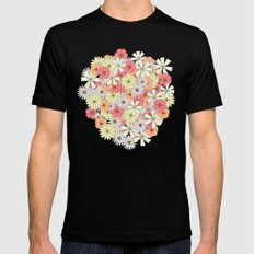 Flowers Mens Fitted Tee Black SMALL