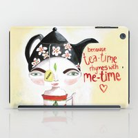 Miss Tea-Time iPad Case