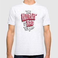 The Internet Is Bad For … Mens Fitted Tee Ash Grey SMALL
