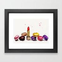 Lipstick and Macaroon's  Framed Art Print