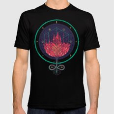 Fading Dahlia Mens Fitted Tee Black SMALL