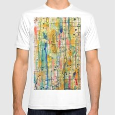 vibratoire SMALL White Mens Fitted Tee
