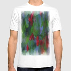 Mirage White Mens Fitted Tee SMALL