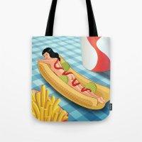 Hot Dog Girl Tote Bag