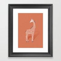 Animal Kingdom: Giraffe … Framed Art Print