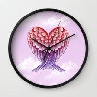 Heart Wings [Pink Versio… Wall Clock