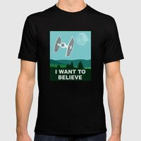 I WANT TO BELIEVE - Star Wars Mens Fitted Tee Black SMALL