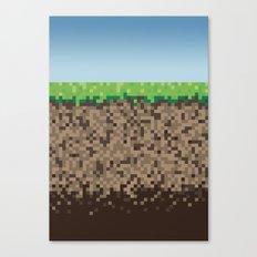 Minecraft Block Canvas Print