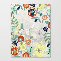 Saturday Florals Canvas Print
