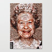 BEHIND THE FACE Queen Elizabeth | drunk and pregnant girls Canvas Print