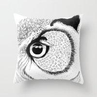 Owl Eye Throw Pillow