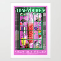 Visit Honeyduke's Sweet Shop Art Print