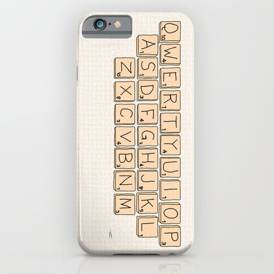 Qwerty Scrabble  iPhone & iPod Case