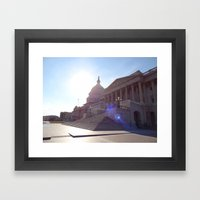 The State House with Flare! Framed Art Print