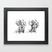 head and neck Framed Art Print