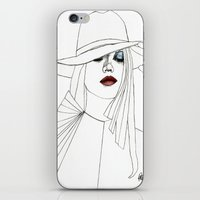 Blue Eyeshadow iPhone & iPod Skin