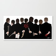 We're All Enemies Here (BACKS ONLY) Canvas Print