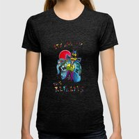 Big Trouble In Little Ch… Womens Fitted Tee Tri-Black SMALL