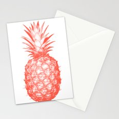 Coral Pineapple Stationery Cards