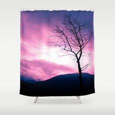 Into the Pink & Purple Sky  - JUSTART © Shower Curtain