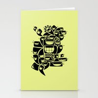 Happy Squiggles - 1-Bit … Stationery Cards