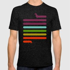 (Very) Long Dachshund Mens Fitted Tee Tri-Black SMALL