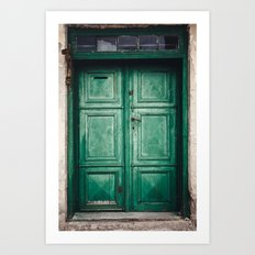 Green old door Art Print