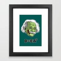 Zombie Einstein Framed Art Print