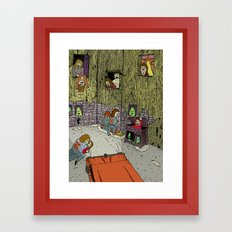 IT'S ALWAYS DARK IN JERSEY Framed Art Print