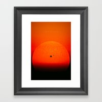 Light Chasing Framed Art Print