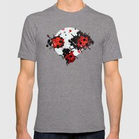 Splattered Bugs Mens Fitted Tee Tri-Grey SMALL