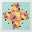Orange Garden Pattern Canvas Print