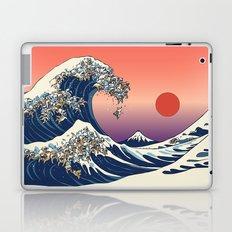 The Great Wave of English Bulldog Laptop & iPad Skin