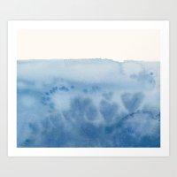 Waves Of Love Art Print