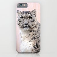 iPhone & iPod Case featuring Snow Leopard in Pink by Stephie Butler Photography