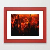Burning the Night Framed Art Print