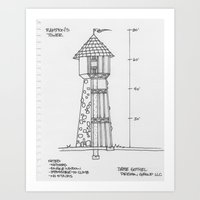 Rampion's (Rapunzel's) Tower Art Print