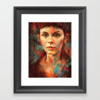 She Was Always A Lonely … Framed Art Print