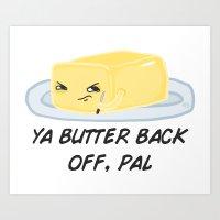 Sour food puns - Butter Art Print
