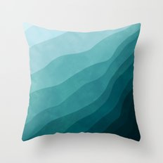 Stratum 2 Aqua Throw Pillow