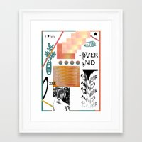 I love tits (overandover) Framed Art Print