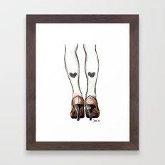 Love Tights Framed Art Print