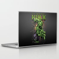 hulk Laptop & iPad Skins featuring Hulk by WaXaVeJu