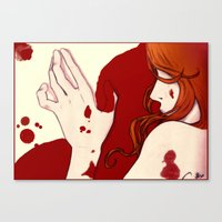 Blood Floor Canvas Print