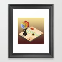 In The Rays Of A Cloudle… Framed Art Print