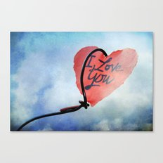 Heart in sky Canvas Print