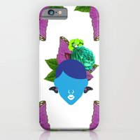 iPhone & iPod Case featuring Blue Butterfly Hair Girl by The Pairabirds