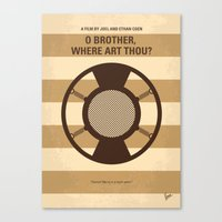 No055 My O Brother Where Art Thou minimal movie poster Canvas Print