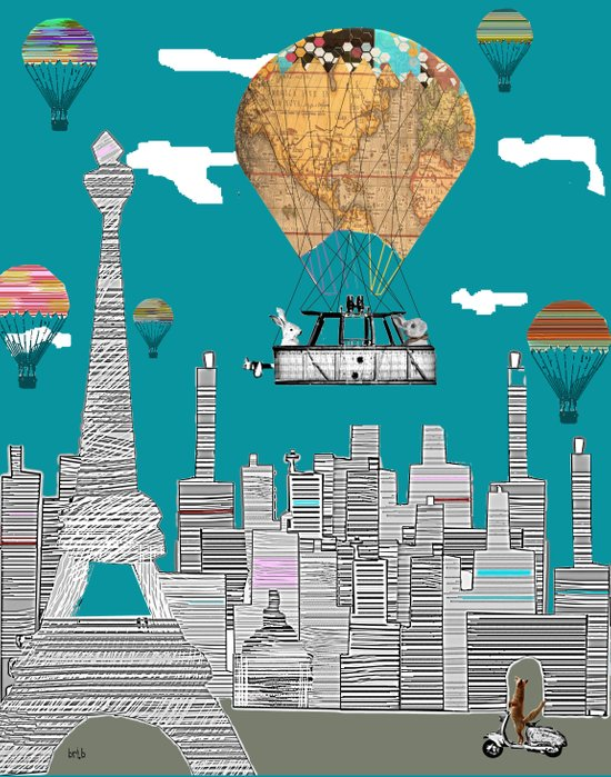 adventure days paris Art Print