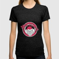 Santa's Apparel Womens Fitted Tee Tri-Black SMALL